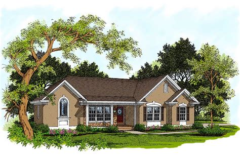 traditional ranch house plans traditional ranch home plan 2097ga architectural