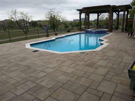 pool decks legacy custom pavers
