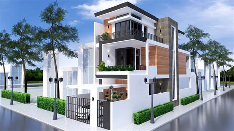 sketchup home elevation design  samphoas house plan
