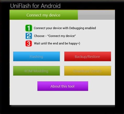 flash for android uniflash manage android devices flash mod roms from your pc