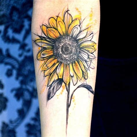 sunflower watercolor tattoo 25 best ideas about watercolor on