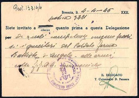 ufficio di collocamento brescia storia postale italiana