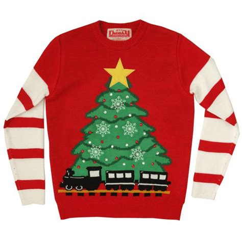 image of lighted tree train christmas jumper unisex