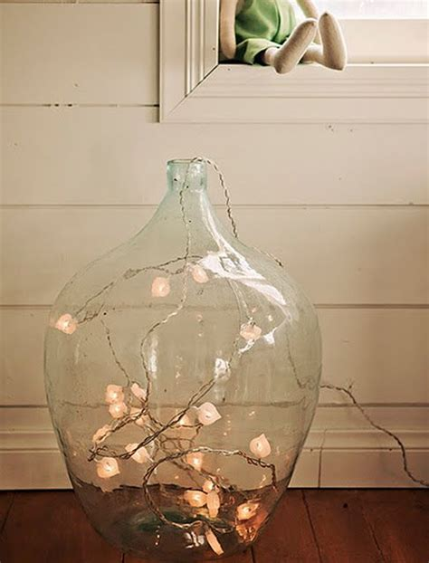 Large Vase Decoration Ideas by Glass Floor The Balcony And String Lights On