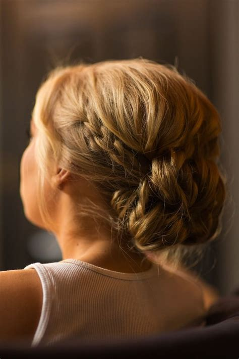 Wedding Hair Braid Bun by Updo With Braid Braided Bridal Bun Percy Handmade