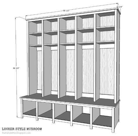 Mudroom Dimensions That S My Letter Quot L Quot Is For Lockers