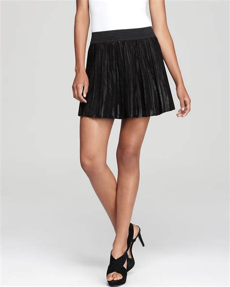 leather skirt shiny pleat bloomingdale s