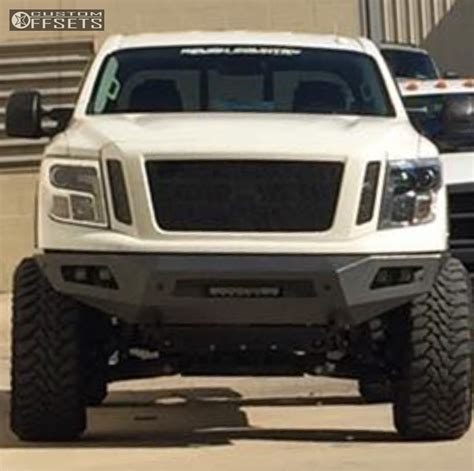 nissan titan xd lifted 4717 custom offsets wheel shine kit for painted wheels