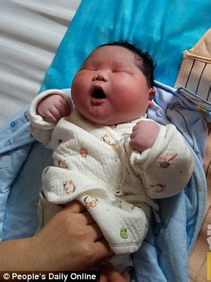 baby born on new year meaning baby boy weighing 14 7 pounds is born in china