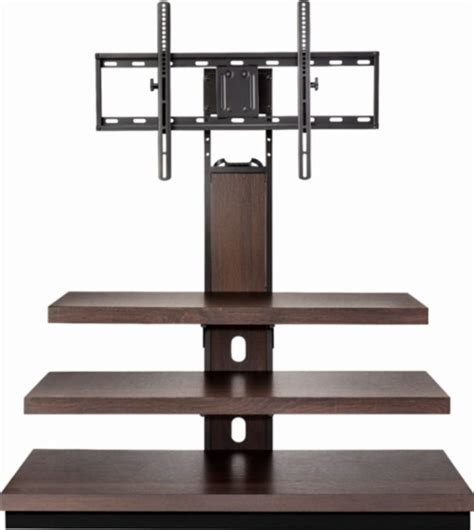 table mount tv stand insignia tv stand for most flat panel tvs up to 55 quot brown