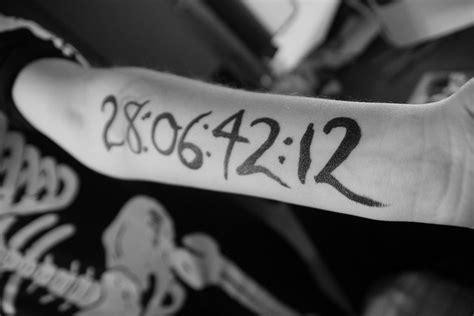 donnie darko numbers tattoo meaning donnie darko tattoo my dream tattoo but i don t think i