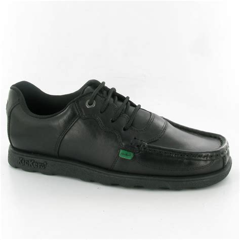 kickers fragma mens lace shoes in black