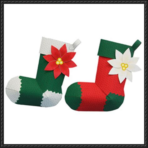 Papercraft Decorations - canon papercraft socks tree decoration free