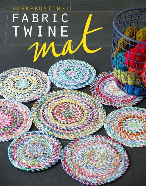 Mat Fabric fabric twine spiral mat poppet makes