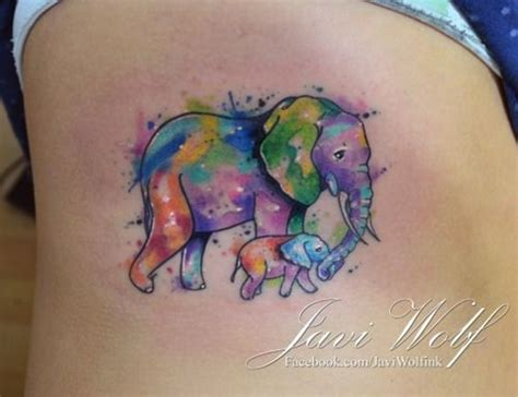 elephant mom and baby tattoo 101 elephant designs that you ll never forget