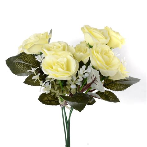 fake flowers home decor 12head artificial fake roses silk flower wedding home