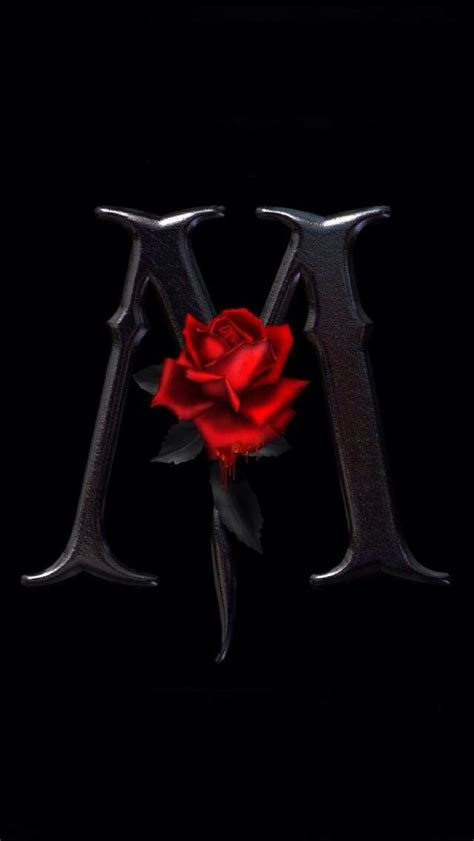 words celebrities wallpapers m s the red rose letter m iphone wallpaper letters names