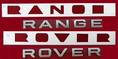 Titanium Silver Lettering Range Rover P38 Rear Tailgate Letters Badge Logo Font Ebay Range Rover Sport Lettering Template