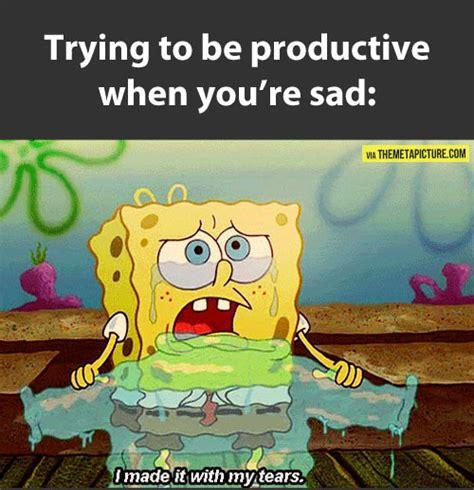 Sad Spongebob Meme - depressing quotes spongebob quotesgram
