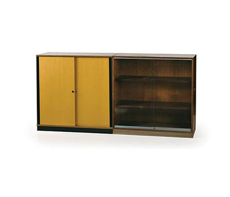 pair of office cabinets one with glass doors for sale at