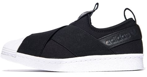 Adidas Superstar Slipon Black Onyx lyst adidas originals superstar slip on in black for