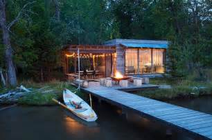Modern Cabins modern rustic cabin montana