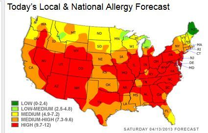 allergy map 28 allergy map usa pollen map christov tenn allergies in the usa planertree planera genus