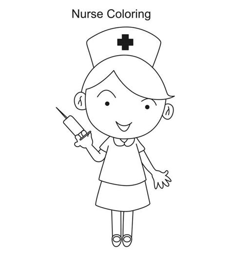 coloring page nurse nurse chasing kid with needle clipart free google search