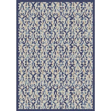 Nourison Overstock Tides Ivory Navy 6 Ft 6 In X 9 Ft 9 Overstock Indoor Outdoor Rug