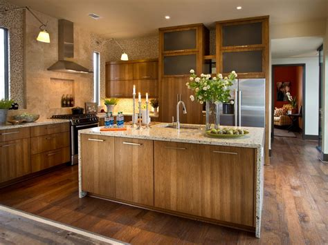 Contemporary Hickory Cabinets ? Scheduleaplane Interior : Kitchen Tile Ideas for Hickory Cabinets