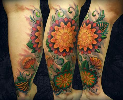 geometric flower tattoo geometric floral by tim senecal tattoonow