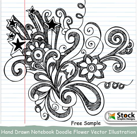 doodle flower photoshop brushes notebook doodle flower brushes by