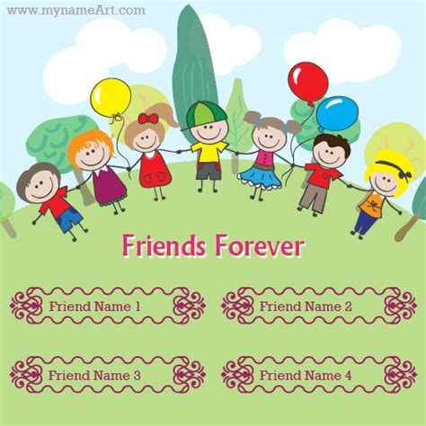 friendship cards friendship forever cards with your names wishes greeting