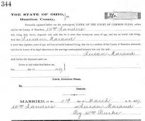 Cincinnati Ohio Marriage Records Sanders Genwishlist