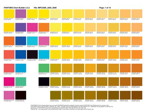 pantone color code 2018 color chart fillable printable pdf forms handypdf
