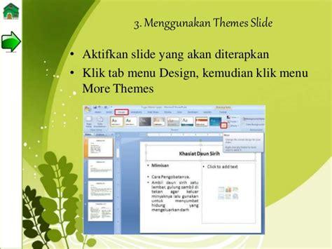 tab menu yang berisi perintah layout slide adalah powerpoint tik bab 2