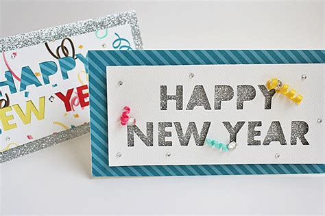 Handmade New Year Cards Ideas - easy handmade new year cards for simple cards kaise