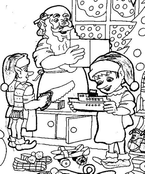 elves workshop coloring pages santa s photo factory get photos with santa fun stuff