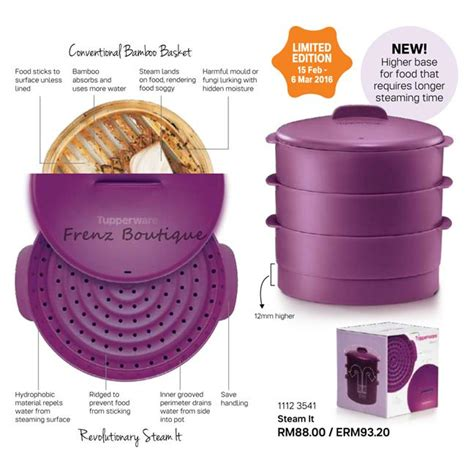 Steam It Purple Ungu 3 Layer Tupperware Steam It 3 Layer Purple End 5 4 2018 2 15 Pm