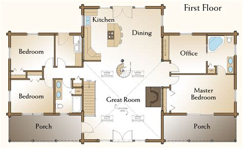 Real Log Homes Floor Plans | the richmond log home floor plans nh custom log homes