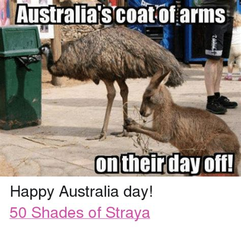 Funny Australia Day Memes - australia s coat of arms on their day off happy australia