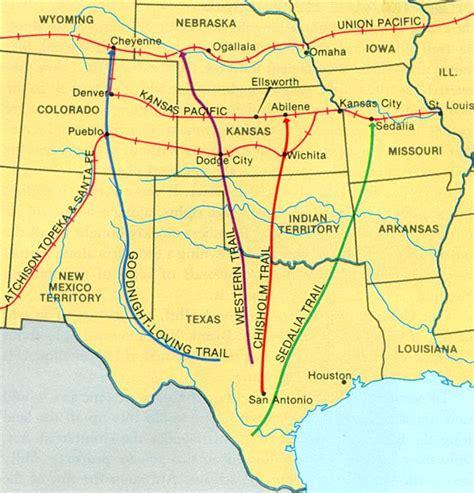 texas cattle trails map texas cattle trails map my