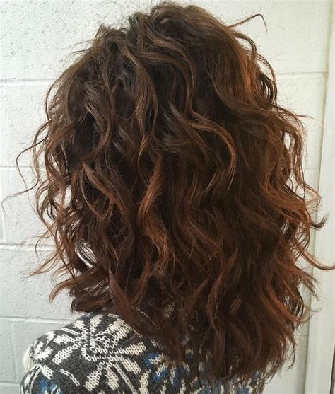 back view of layered curly shoulder length 25 best ideas about layered curly hair on pinterest