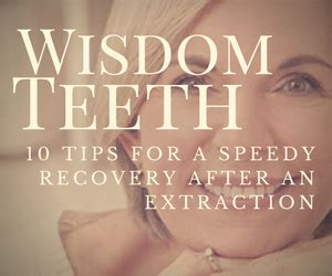 10 tips for a speedy recovery after a wisdom tooth