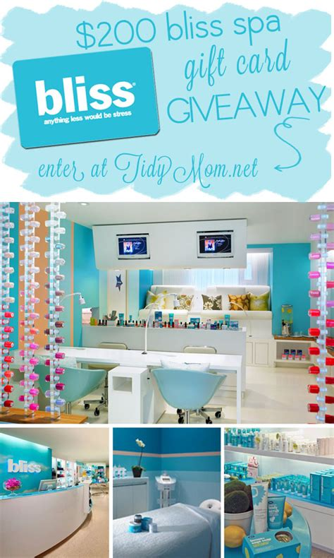Bliss Spa Gift Card - sparking truth to win 200 spa day