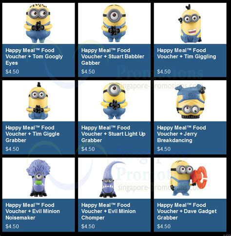 Price Promos An Unfortunately Named by Minions Price List 187 Mcdonald S Despicable Me 2 Deferred