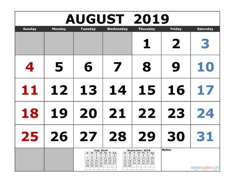 august  printable calendar template  month calendar