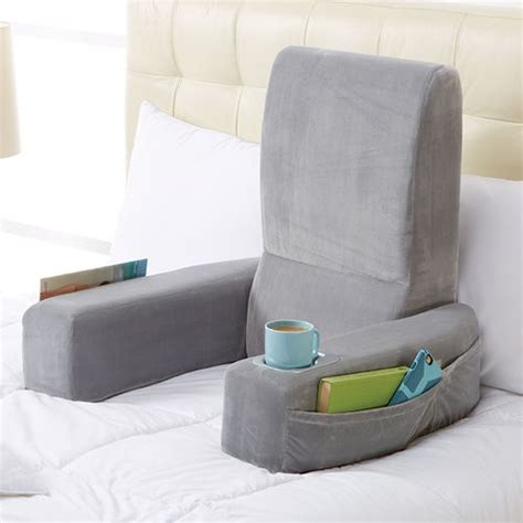 pillow seat for bed nap bed rest pillow brookstone
