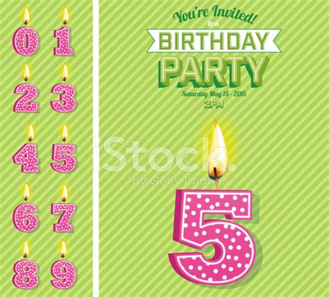 birthday candle card template bright birthday card template with number candles set