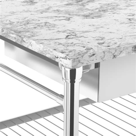 Marble Top Modular Kitchen Island With Marble Top Williams